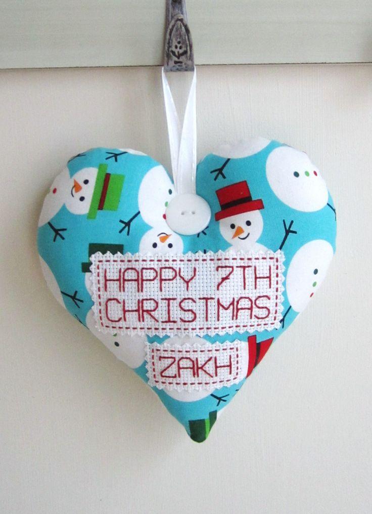 Large PERSONALISED Christmas Heart - £15 plus P&P