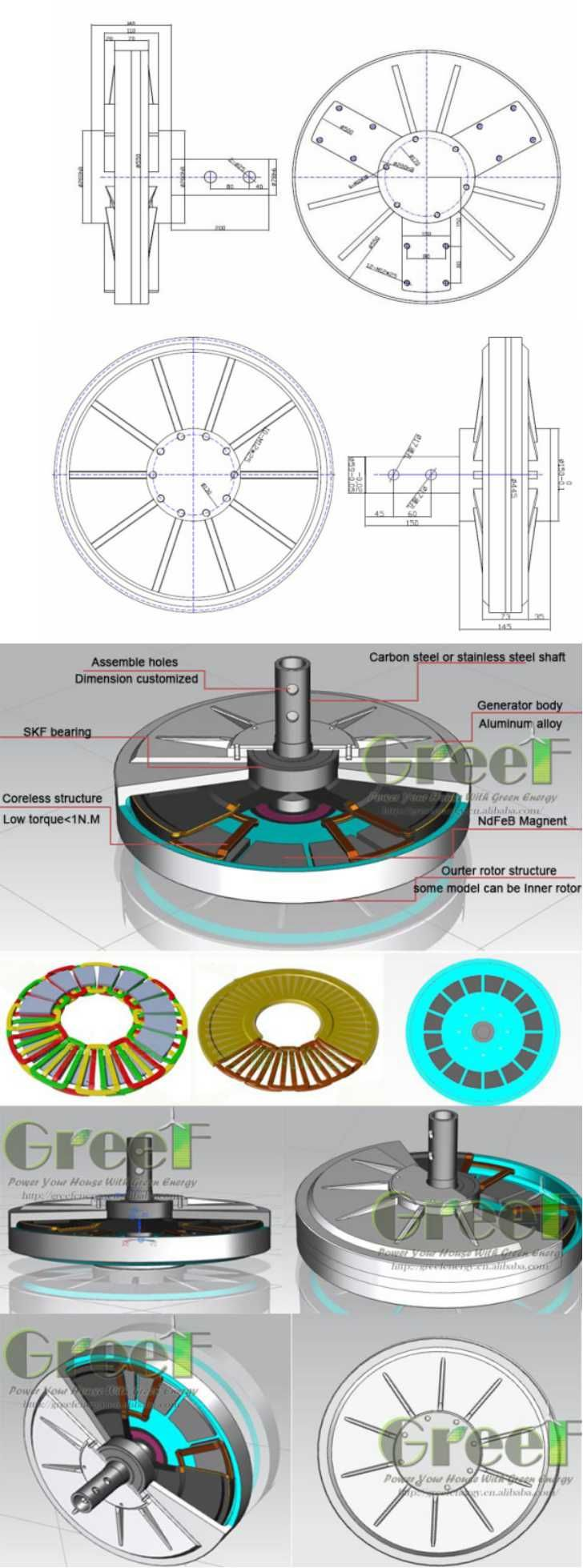 10kw 150rpm Vertical Axis Wind Generator with Low Start Torque - China Vertical Axis Wind Turbine Generator, Wind Power Generator | Made-in-China.com Mobile