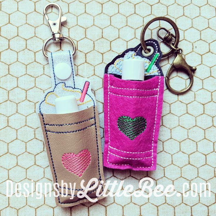 Iced Coffee Lip Balm Snap Tab & Eyelet Key Fob 01 12
