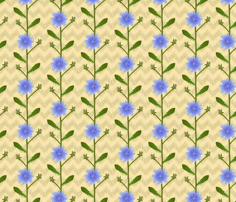 Chicory in the field fabric by mia_valdez on Spoonflower - custom fabric