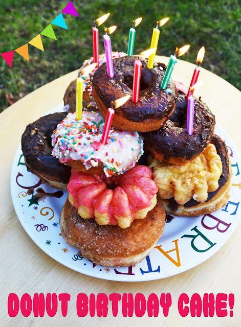 Donut Birthday Cake! (Sam will get this for her next birthday!)