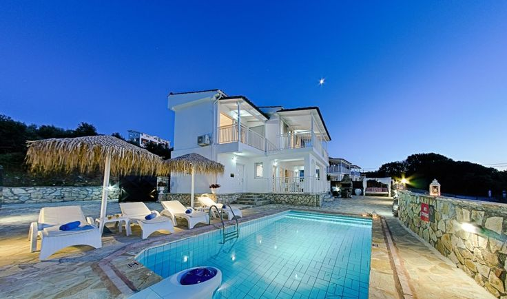 Cavo Mare Luxury Villas in Tragaki, Zakynthos. Clinging to a green cliff on the Greek island of Zakynthos, the Cavo Mare villas gaze over the deep blue and out across the Ionian Sea. The spectacular setting is matched only by the unique living spaces inside the villas, where comfort and style converge to create the ideal accommodation setting for memorable holidays in Zante.