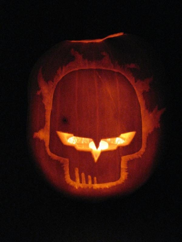 Its jake as a pumpkin carving halloween corvette