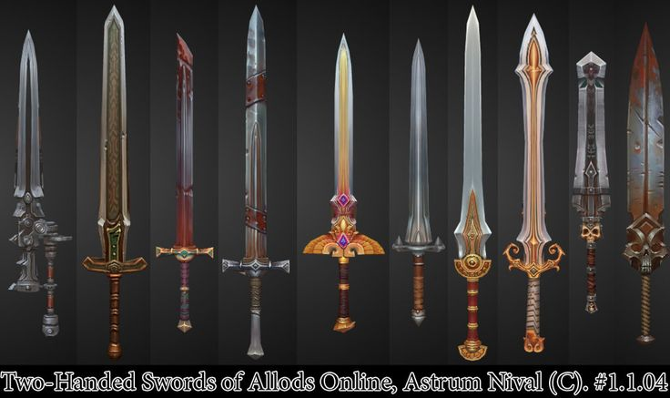 Two-Handed Swords - Allods by ~janesthlm on deviantART