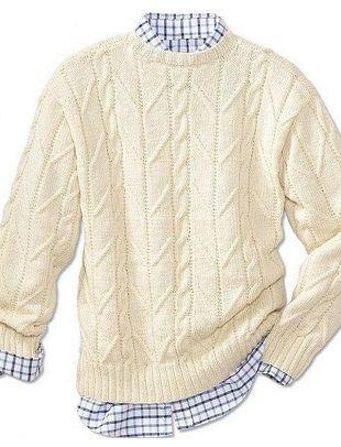 Как связать мужской пуловер