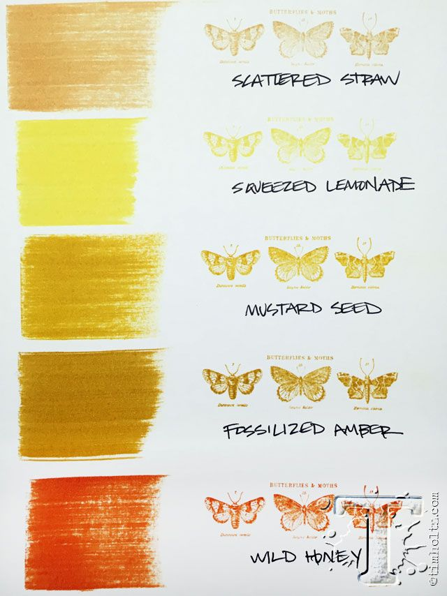 Fossilized Amber Distress Ink comparison.  New Distress Colors of the Month available at www.addictedtorubberstamps.com