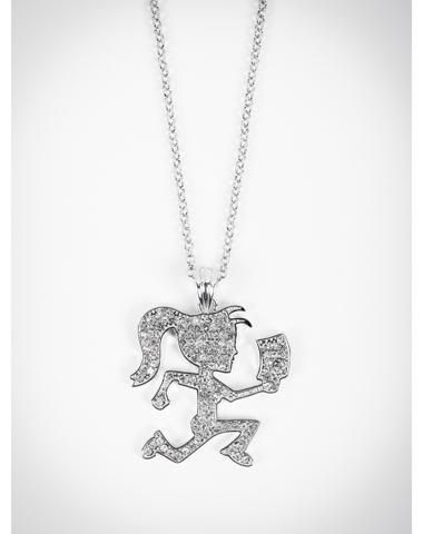Insane Clown Posse Silver Hatchet Girl Necklace