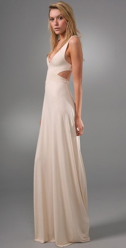 i would never wear another white dress unless i had to but i love the lines of this one