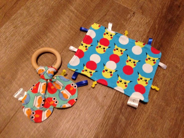 Kimmy Snabric Monsters - bamboo teething ring and ribbon lovey DIY tutorial