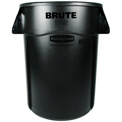 Rubbermaid Brute 44 Gallon Trash Can with Venting Channels, Black (RCP2643-60BLA)