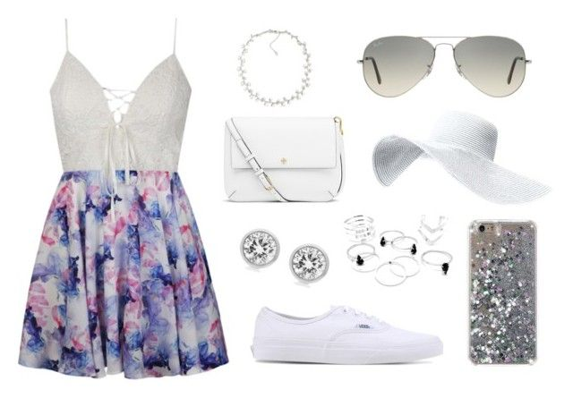 """""""Summer day party outfit"""" by gymnees on Polyvore featuring Ally Fashion, Vans, Ray-Ban, Tory Burch, Carolee and Michael Kors"""