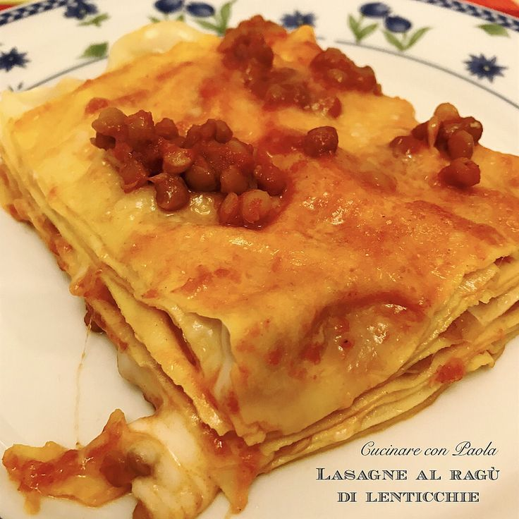 Lasagne al ragù di lenticchie!