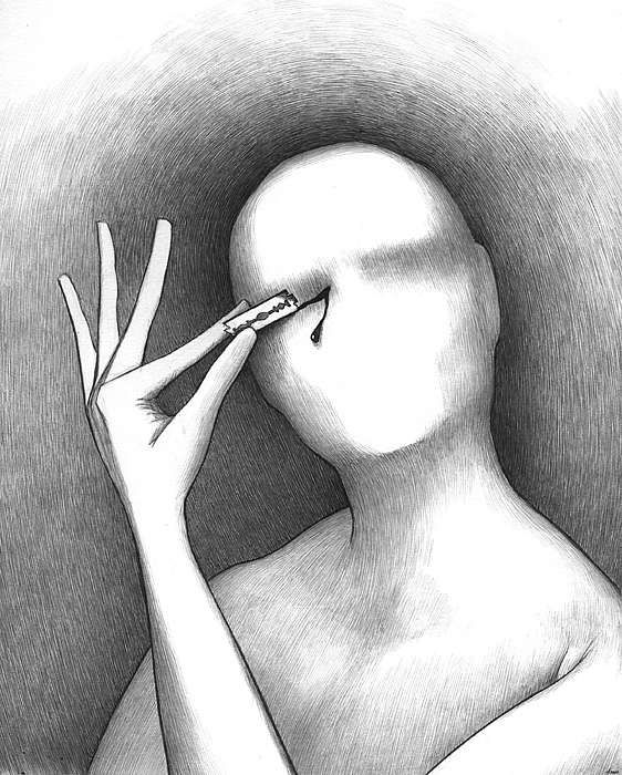 Simple but enormously creepy art. Mind-Bending Sketches