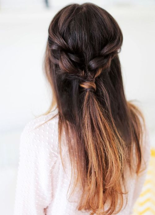 Pretty Twisted Braided Long Ombre Hairstyles 2016