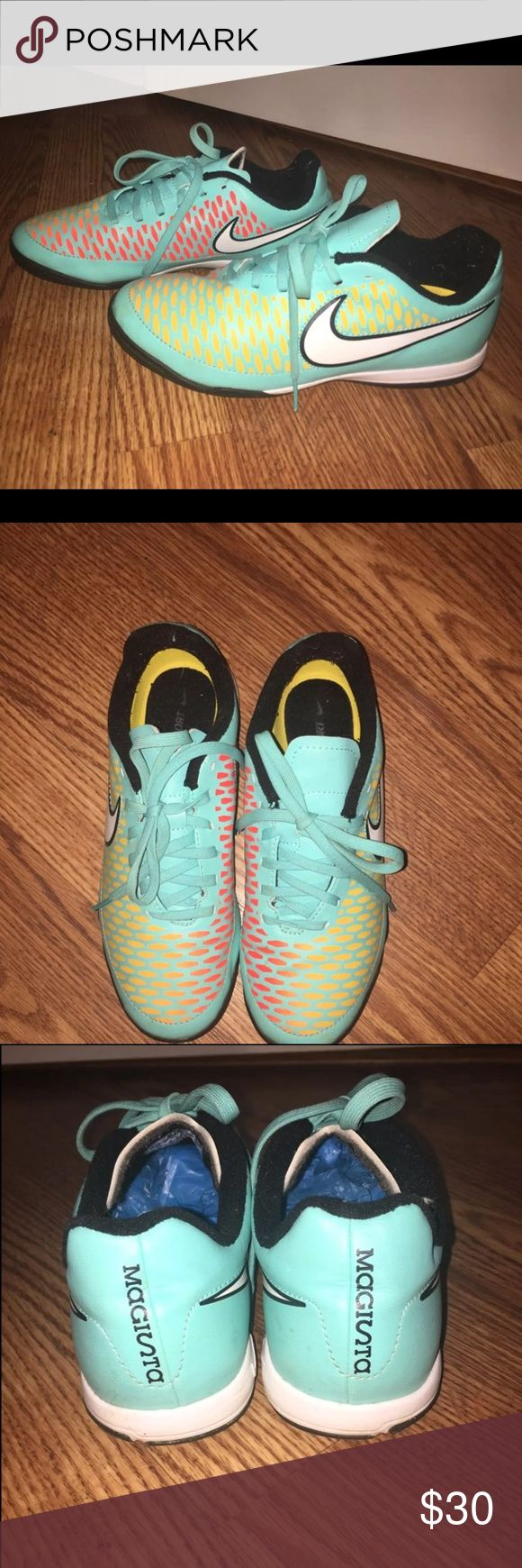 Indoor Soccer Cleats - Nike NWOT. Worn maybe once. Not a soccer player so I have no need for them. Nike Shoes Sneakers