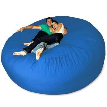 Micro Suede Giant Bean Bag Chair At Brookstone Buy Now