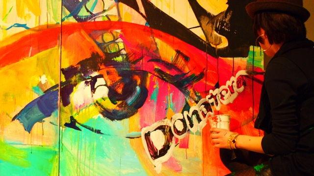 Live paint@Shibuya Tangerin