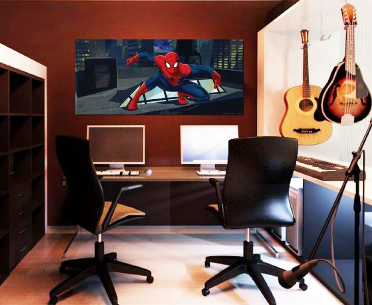 Superhero Spiderman Kids Wall Mural By WallandMore. Marvel Collection. Part 74