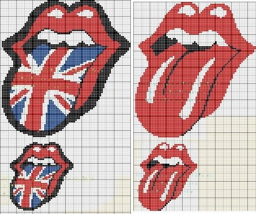 17 best images about hama beads music on pinterest perler bead patterns pe - Bouche des rolling stones ...