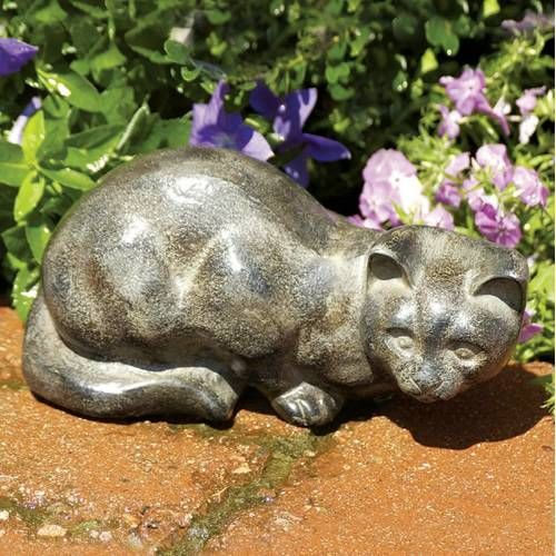 19 best cat statues images on pinterest kittens kitty cats and cat statue lawn ornament animal statue watchful cat statuary cast aluminum finished in charcoal grey tones that resemble natural stone workwithnaturefo