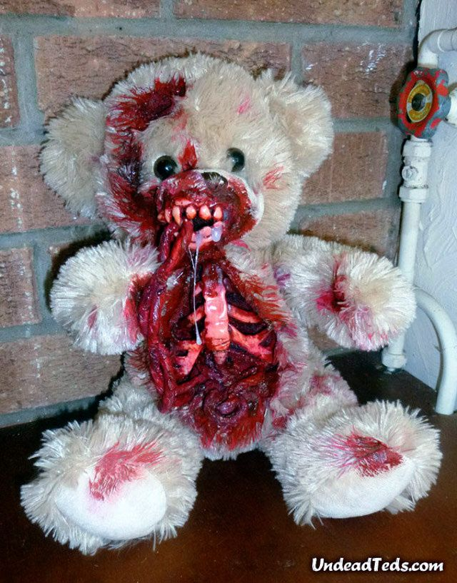 these undead teddy bears are terrifying