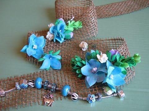 Цветочные миниатюры из фоамирана для декора. Мастер класс. Цветы из фоамиранаю - YouTube