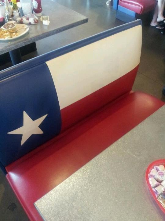 Texas Flag Booth, Norma's Diner, Frisco, Texas