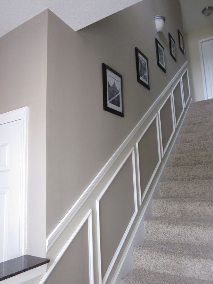 Benjamin Moore Pismo Dunes & Benjamin Moore Manchester Tan I so want to this up my stair walls love it