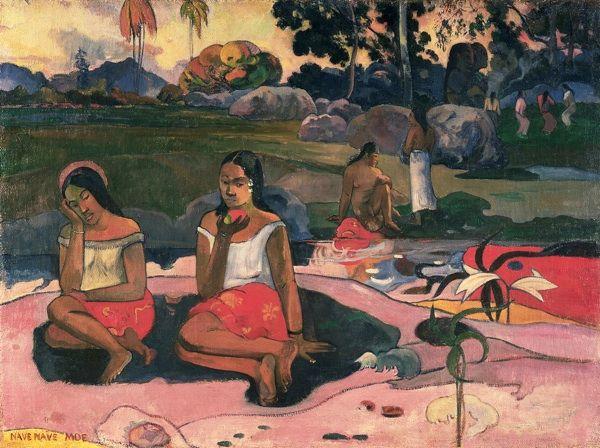 Paul Gauguin, La fonte delle delizie (Nave nave moe), 1894, olio su tela, San Pietroburgo, Ermitage