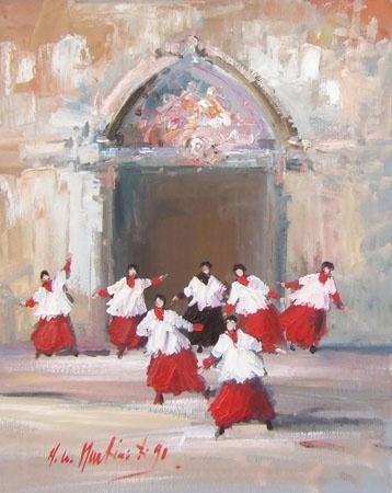 Norberto painting
