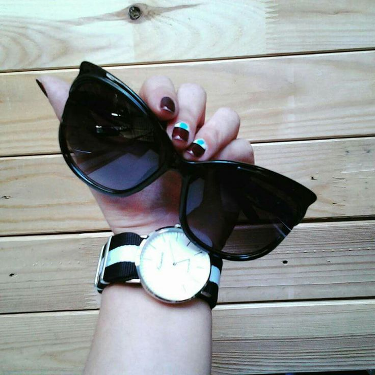 New arrivals ♡  All time classic black sunnies and watch ♥