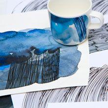 Marimekko´s Weather Diary Collection: sketches by Aino-Maija Metsola