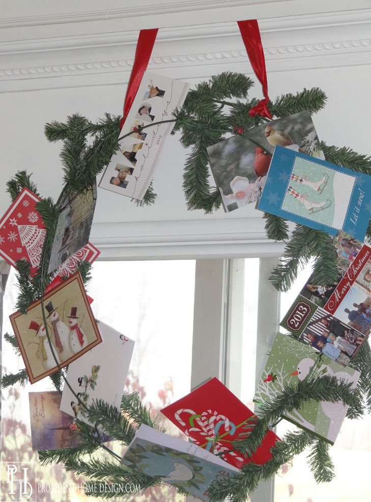 884 best diy christmas wreaths images on pinterest diy for Christmas card holder craft project