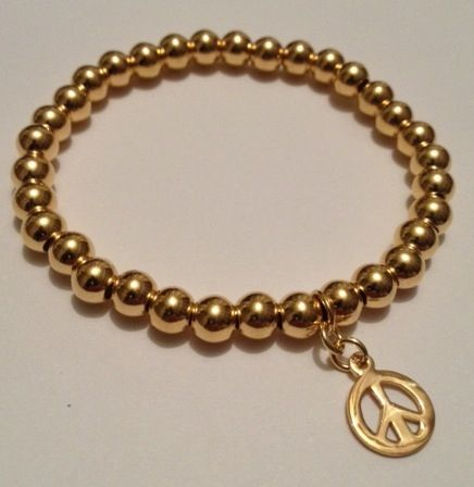 Stunning bracelet handmade by Hannah at Blue Apple Jewellery, Vermeil Gold. Fashionable, sparkling & perfect for stacking & collecting. www.blueapplejewellery.com