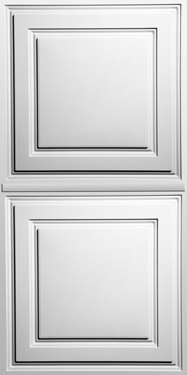Stratford White Ceiling Panels are cost-effective, easy-to-use, and our best-selling style. Their white finish is bright, pure, and easy to clean. (ceilume.com)