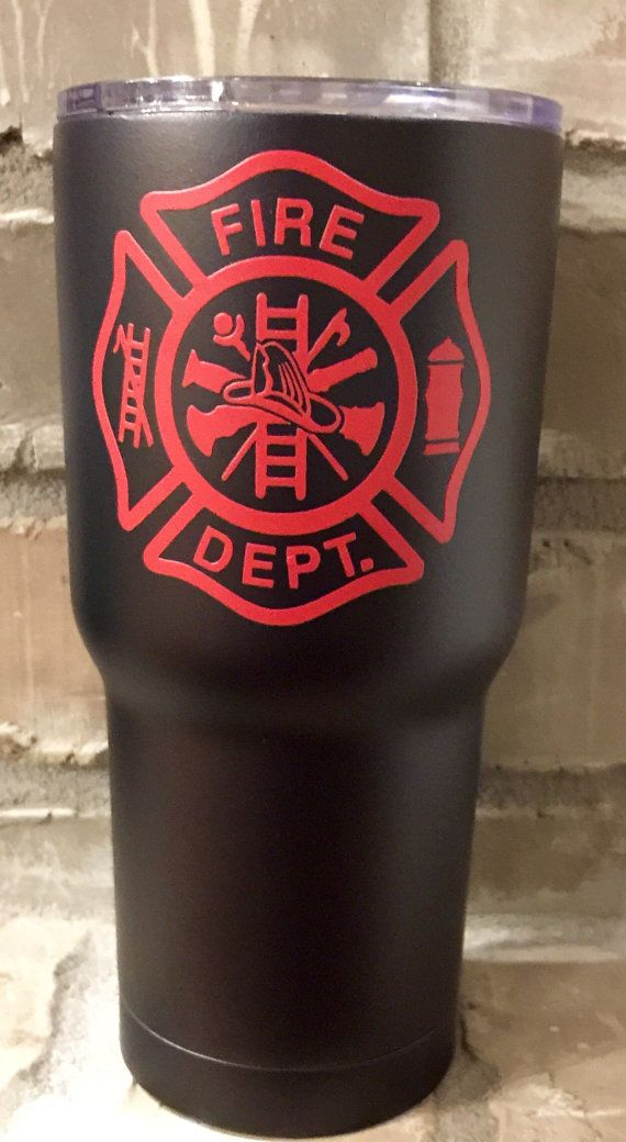 Firefighter Personalized 30 Oz Custom Powder By