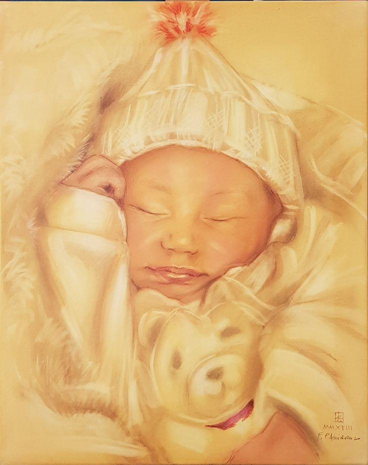 Ritratto di neonato | Altamiradecor, bottega d'arte di Franco Pagliarulo