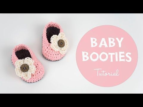 How to Crochet Piggy Baby Booties | Croby Patterns - YouTube