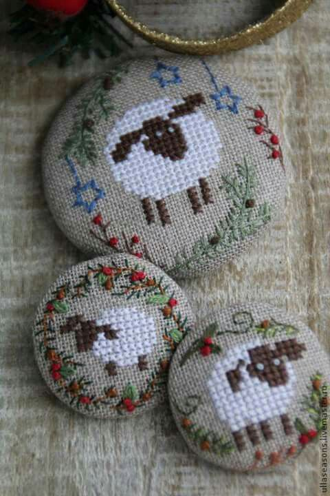 Cute cross stitch sheep
