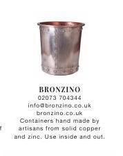 Bronzino | Containers | Hand Made | Copper | Zinc | Reclaimed | Industrial | Vintage Furniture #ClippedOnIssuu from Warehouse home Issue Two