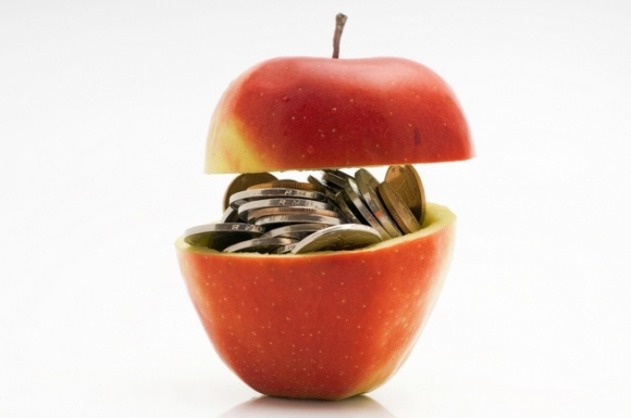 Apple's share price surpasses Google's for the first time