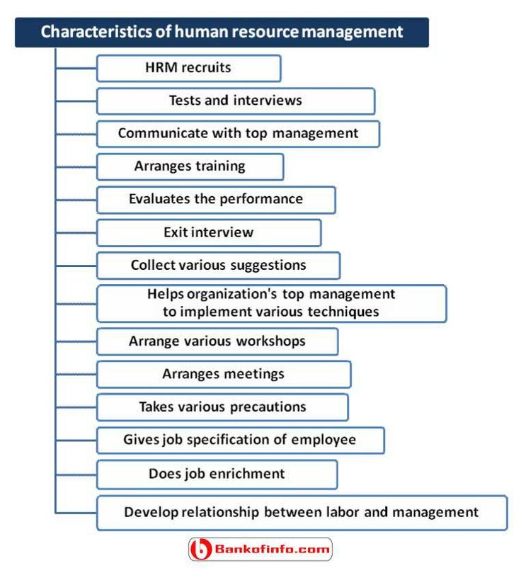Human Resource Executive And: Characteristics Of Human Resource Management