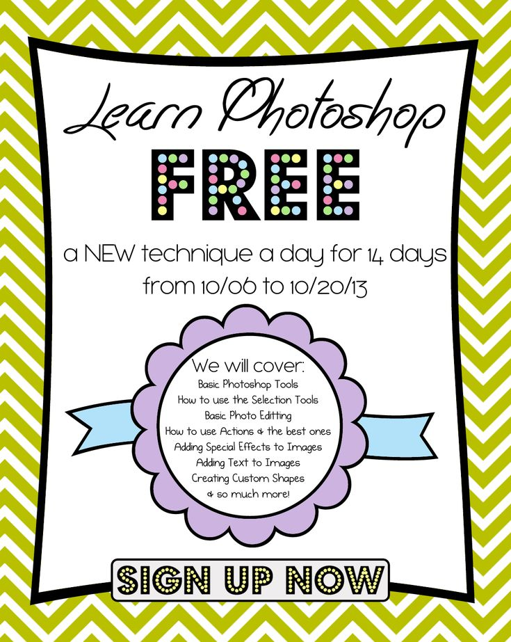 Homeketeers FREE 14 Day Photoshop Class