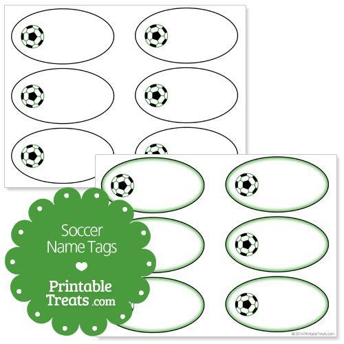 Free Printable Soccer Name Tags from PrintableTreats.com