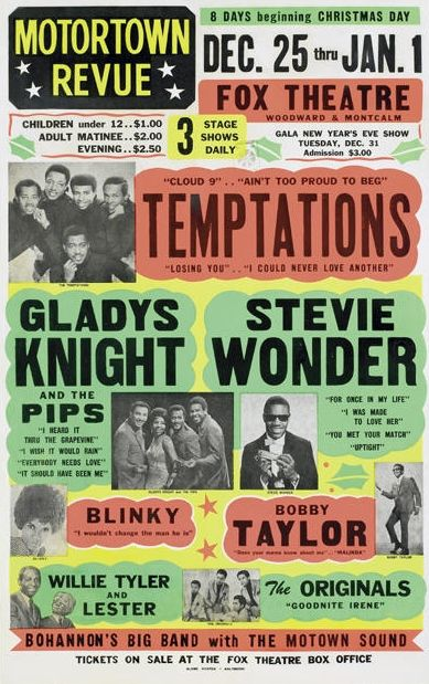 Temptations. Gladys Knight. Stevie Wonder.