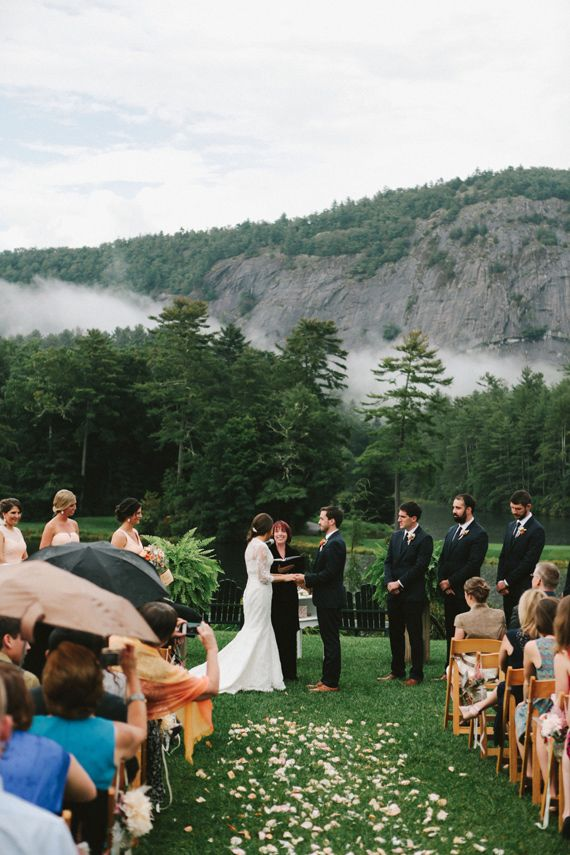 that location... North Carolina mountain wedding | Photo by WE Photographie | Read more - http://www.100layercake.com/blog/?p=80420