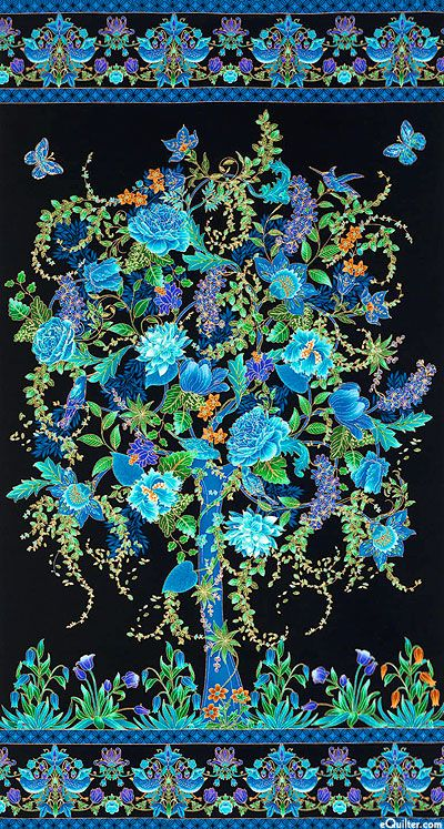 Wow how pretty!  Not my colors at all, but this sure would make a pretty center to a quilt!