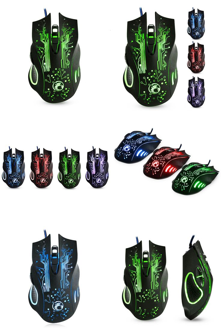 [Visit to Buy] NEW Wired Gaming Mouse Mice Professional USB Optical Computer Mouse 6 Buttons E-Sports Mice Ratones Pc 5000DPI X9 #Advertisement