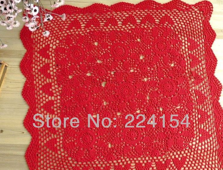 Aliexpress.com : Buy 60x60 cm square size handmade crochet tablecloth for wedding decoration Free Shipping!!! from Reliable square tablecloth suppliers on Handmade Shop $13.80