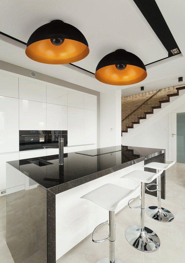 Nowodvorski Plafon Hemisphere Black-Gold 6934 : Plafony metalowe : Sklep internetowy Elektromag Lighting #kitchen #lighting
